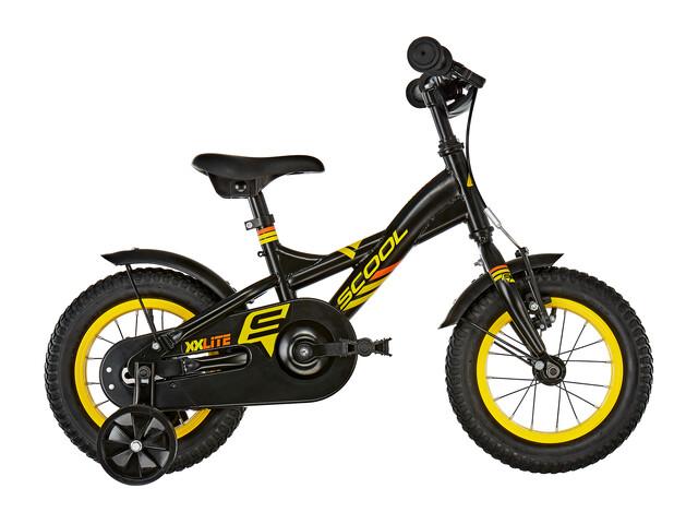 s'cool XXlite 12 Børnecykel steel sort